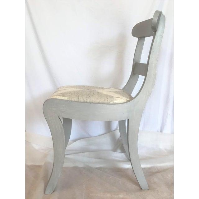Gustavian (Swedish) Gustavian Gray Klismos Dining Chairs - Set of 6 For Sale - Image 3 of 7