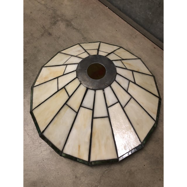 Mission Slag Arts & Crafts Spectrum Glass Lamp Shade For Sale In San Diego - Image 6 of 12