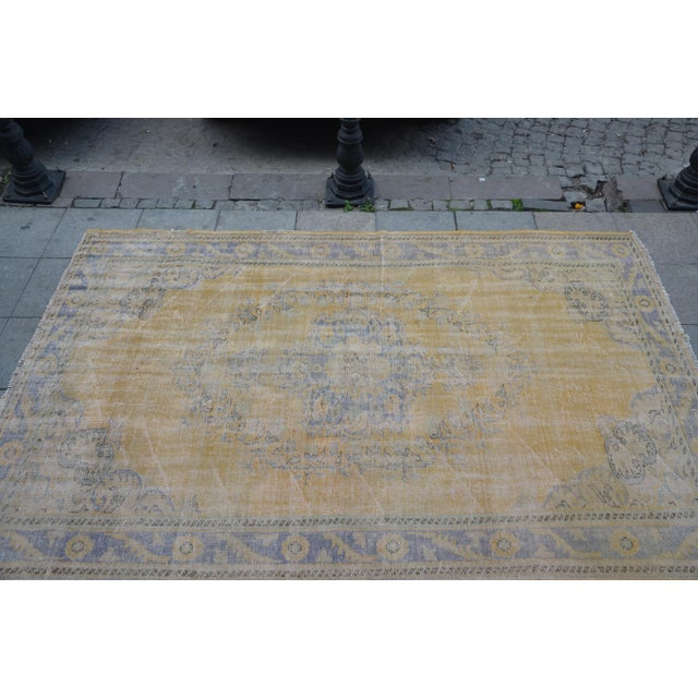 """Tribal Turkish Antique Rug - 71"""" x 109"""" For Sale - Image 4 of 7"""