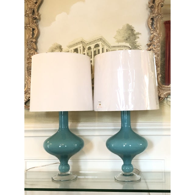Contemporary Arteriors Rory Lamps With Silk Shades - a Pair For Sale - Image 3 of 9