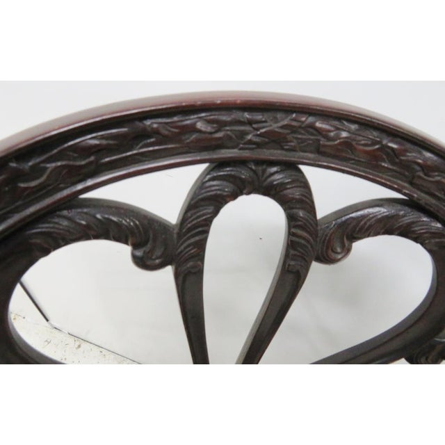 Gothic English Mahogany Carved Arm Chair For Sale - Image 3 of 9