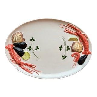 """Vintage Italian 19""""Seafood Platter For Sale"""