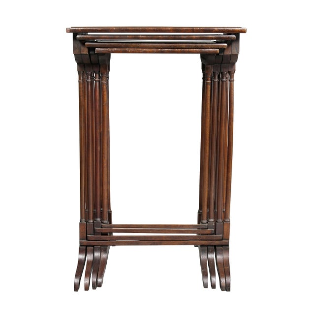 Traditional Regency Mahogany Quartetto Tables - Set of 4 For Sale - Image 3 of 12