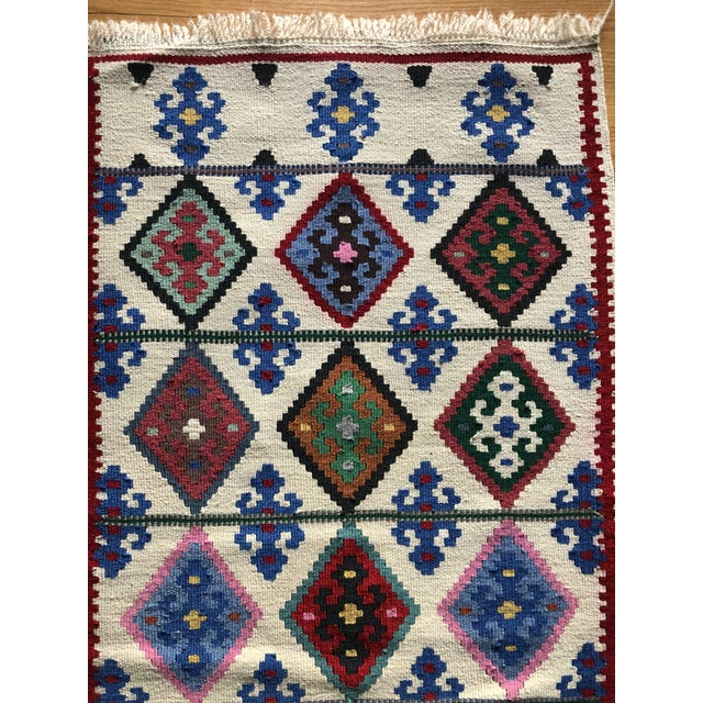 1990s 1990s Multi-Colored Wool Rug - 2′2″ × 4′9″ For Sale - Image 5 of 6
