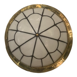 Leaded Glass Light Fixture For Sale