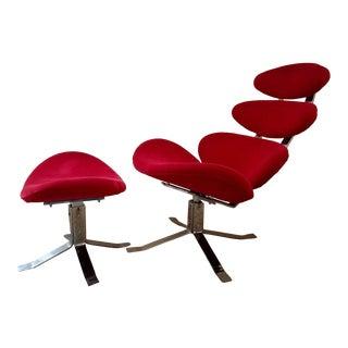Zuo Modern Petal Lounge Chair & Ottoman