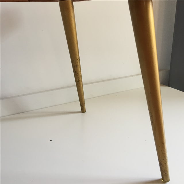 Mid-Century Black & Gold Starburst Side Table For Sale - Image 9 of 9