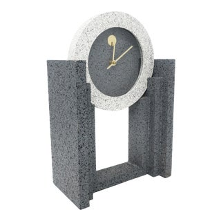1980s Post Modern Mantle Clock by Empire Arts For Sale