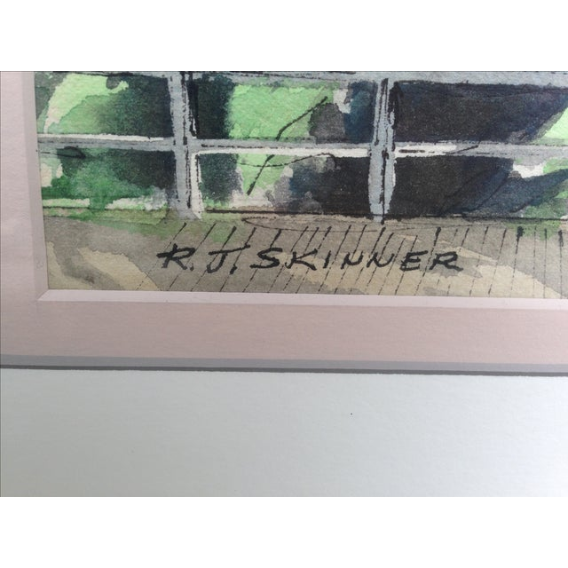 R. J. Skinner San Francisco Watercolor Painting - Image 3 of 4