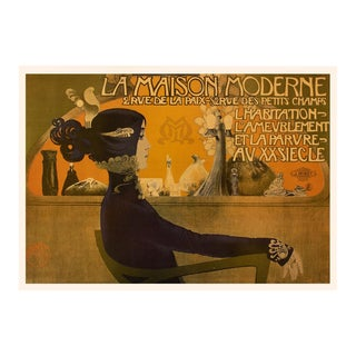 "Rare 1993 Emmanuel Orazi Large Poster for ""La Maison Moderne"" Parisian Gallery, First German Edition For Sale"