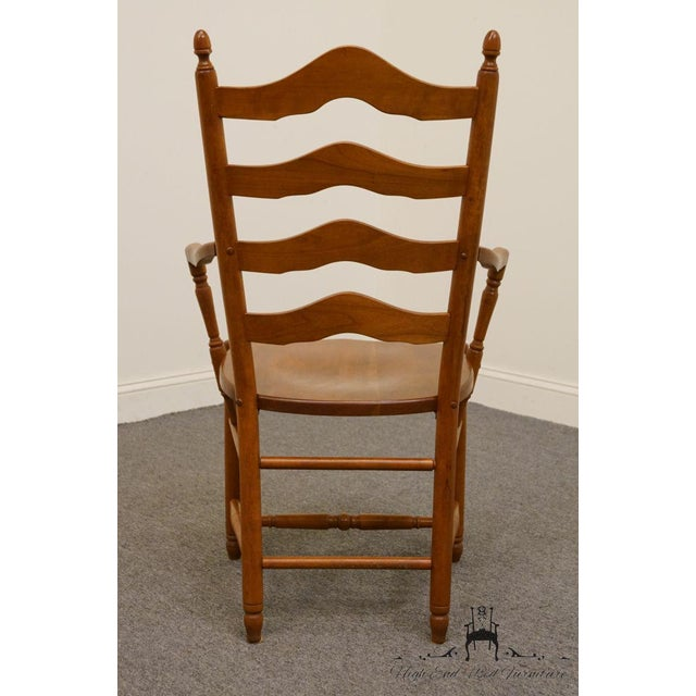 Late 20th Century Vintage Tom Seely Cherry Ladder Back Dining Chair For Sale In Kansas City - Image 6 of 10