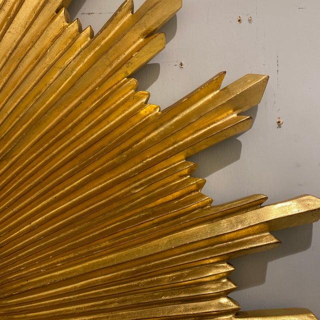 Metal Carvers Guild Starburst Mirror For Sale - Image 7 of 9