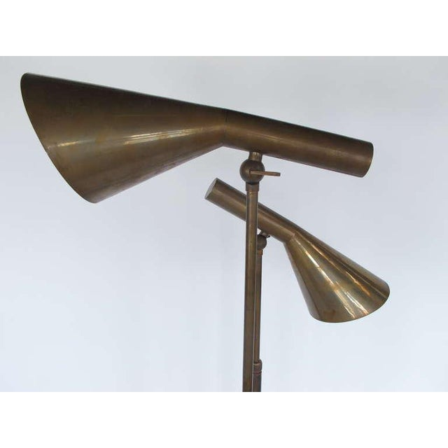 Modern 1970s Italian Modern Brass Floor Lamps - a Pair For Sale - Image 3 of 11