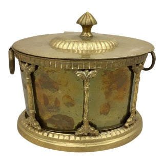 Vintage Brass Caddy Box For Sale