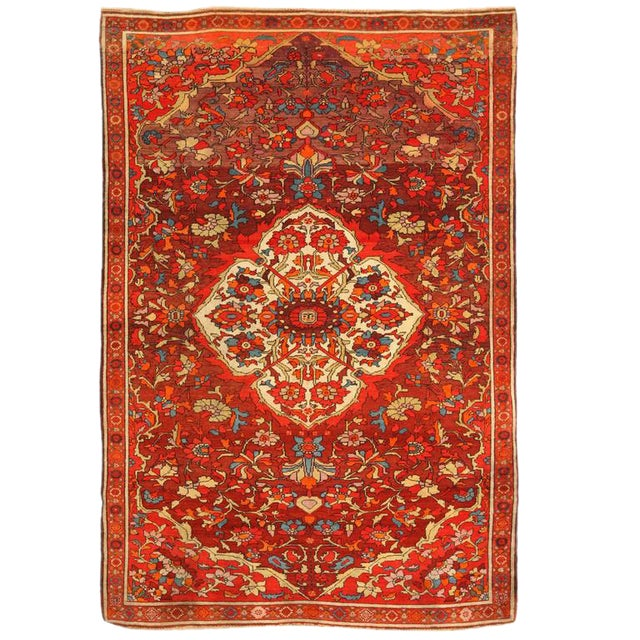 Antique 19th Century Persian Mishan Rug For Sale