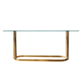 Mid-Century Pace Collection Glass Console Table