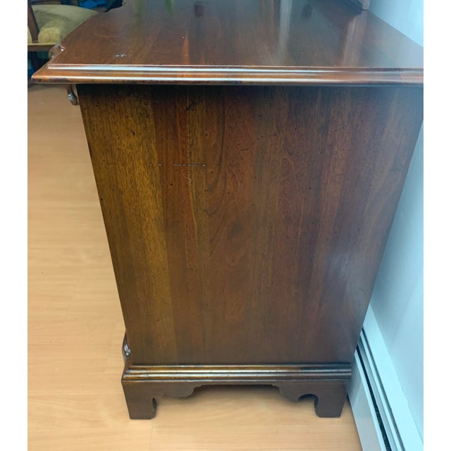 1930s Henry Ford Museum Mahogany Dresser With Mirror by Century Furniture For Sale - Image 11 of 12