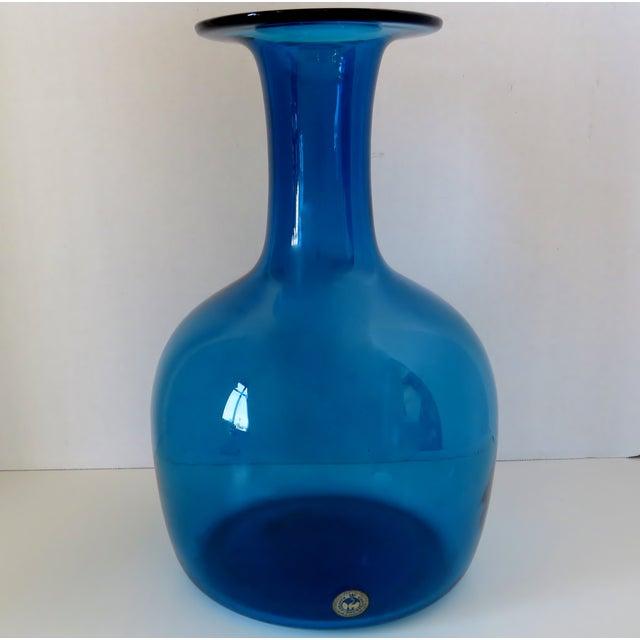 Mid 20th Century Kastrup Holmegaard Glass Vase For Sale - Image 5 of 5