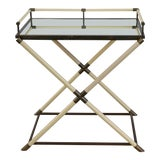 Image of 1970s Vintage Brass Bar Cart by Maison Jansen For Sale