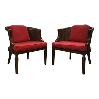 1960s Mid Century Modern Hickory Fruitwood Occasional Armchairs - a Pair For Sale