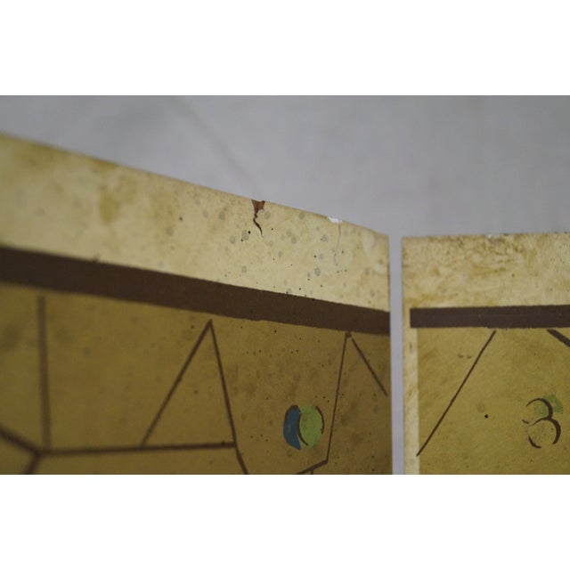 Vintage Chinoiserie Painted Folding Screen - Image 8 of 10