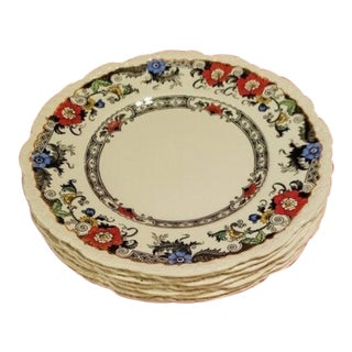 Royal Cauldron Bone China Plates - Set of 8 For Sale