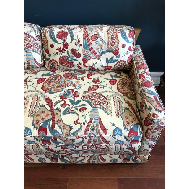 Vintage 1970s Down Sofa in Fabulous Print Upholstery For Sale - Image 10 of 13