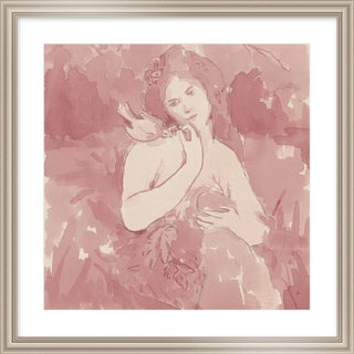 "Medium ""My Pet Bird"" Print by Michelle Farro, 26"" X 26"" For Sale"