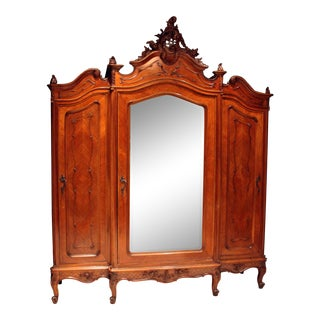 19th Century French Louis XIV Style Armoire For Sale