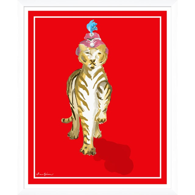 """Contemporary """"Matilde in Ruby"""" By Dana Gibson, Framed Art Print For Sale - Image 3 of 3"""