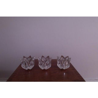 Crown & Carriage Faceted Crystal Candleholders - Set of 3 Preview
