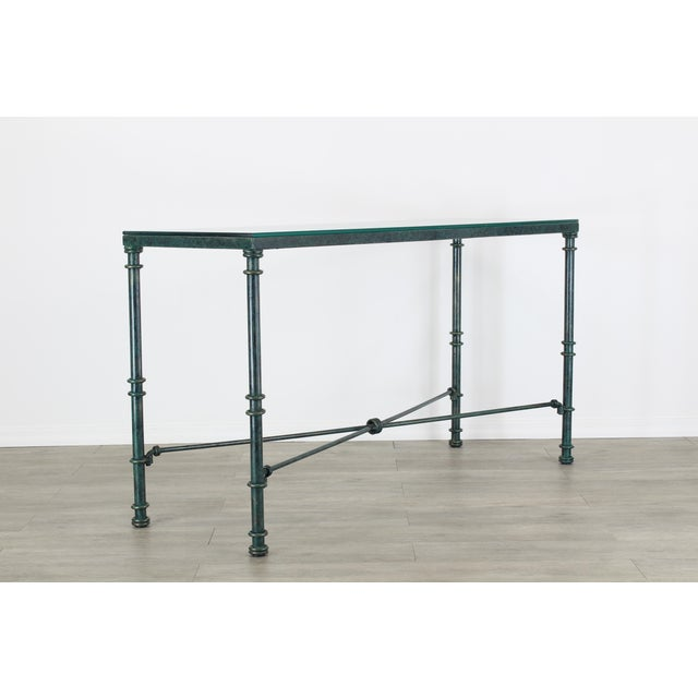 Metal Diego Giacometti Style Iron Console Table, Metal Console Table For Sale - Image 7 of 10