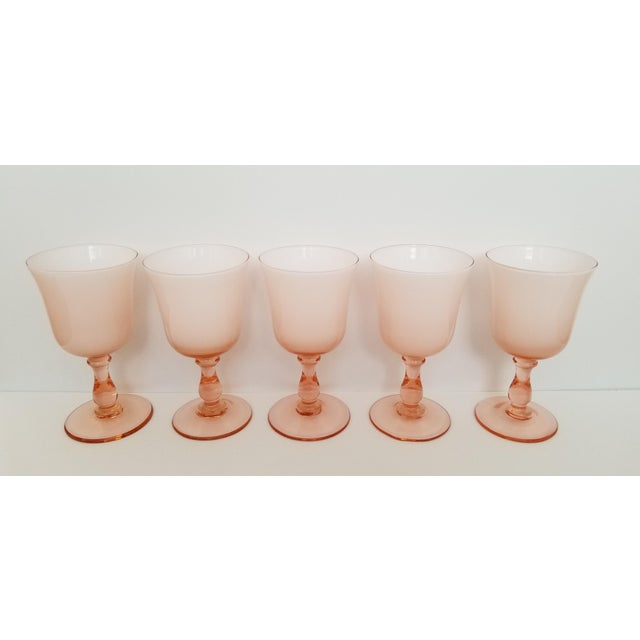 1960s Carlo Moretti Pink Cased Coupe Glasses - Set of 5 For Sale - Image 10 of 10
