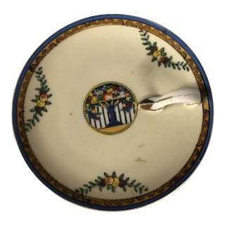 1920s Noritake Hand Painted Catchall Tray For Sale