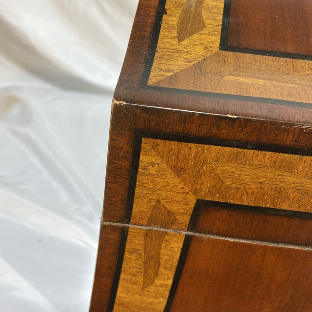 Maitland-Smith Inlaid Mahogany Box For Sale - Image 11 of 13