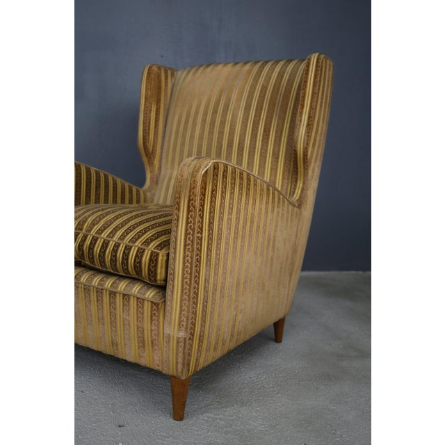 Mid-Century Modern Pair of Armchairs Melchiorre Bega for Grand Hotel Milano 1950 For Sale - Image 3 of 5