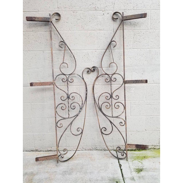 Architectural Iron Panels - a Pair For Sale - Image 9 of 10