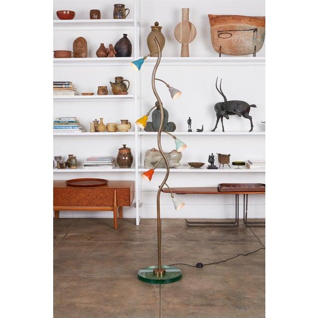 Arredoluce Italian Freeform Tulip Shade Floor Lamp For Sale - Image 4 of 11