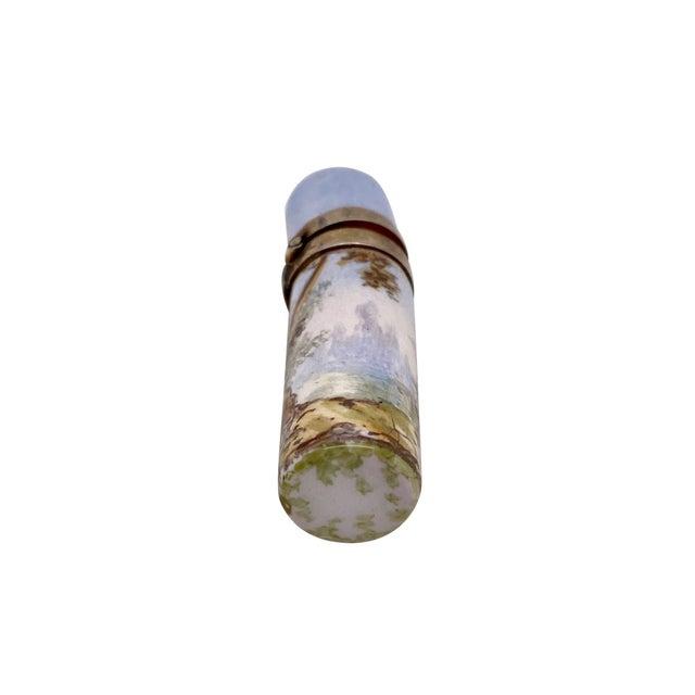 Mid 19th Century 19th C. Vienna Enamel Miniature Perfume Bottle For Sale - Image 5 of 6