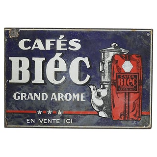 2-Sided French Bistro Coffee Sign For Sale