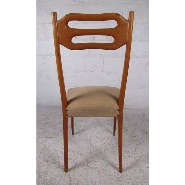 Sculptural Italian Modern Dining Chairs - Set of 6 - Image 6 of 10