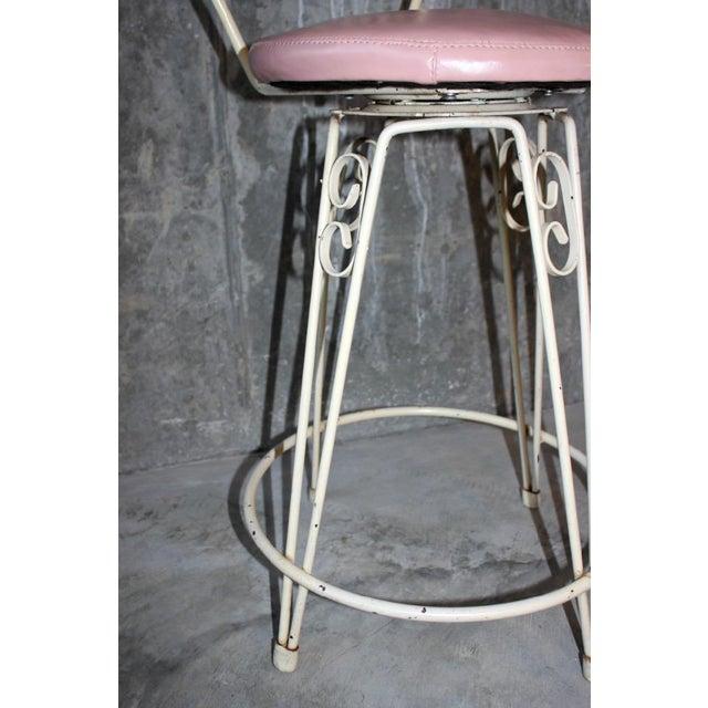 Metal Arthur Umanoff Mid-Century Wrought Iron Bar Stools - a Pair For Sale - Image 7 of 8