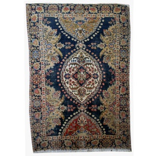 1920s Handmade Antique Persian Malayer Rug - 4' X 6' For Sale