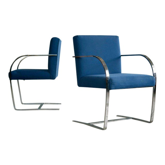 Pair of Brno Style Side Chairs in the Manner of Mies van der Rohe - Image 1 of 10