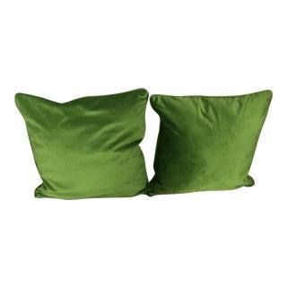 Contemporary Italian Green Apple Pillows - a Pair For Sale