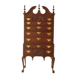 Henkel Harris Chippendale Spnea Clawfoot Mahogany Highboy For Sale