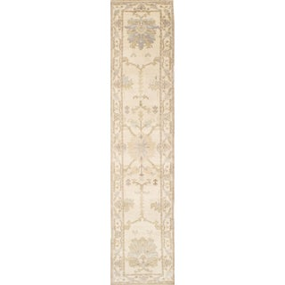 """21st Century Vintage Pasargad Ny Oushak Design Hand-Knotted Rug - 2'6"""" X 12'1"""" For Sale"""