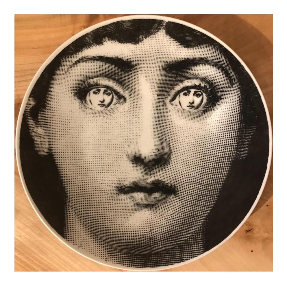 Fornasetti Womans Face Graphic Collector\u0027s Item Plate  sc 1 st  Chairish & Vintage \u0026 Used Italian Decorative Plates | Chairish