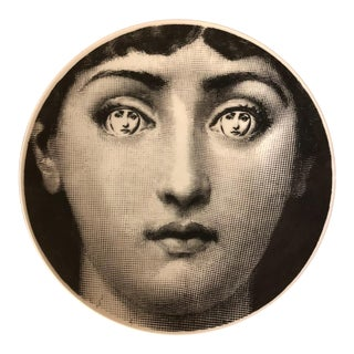 Fornasetti Womans Face Graphic Collector's Item Plate