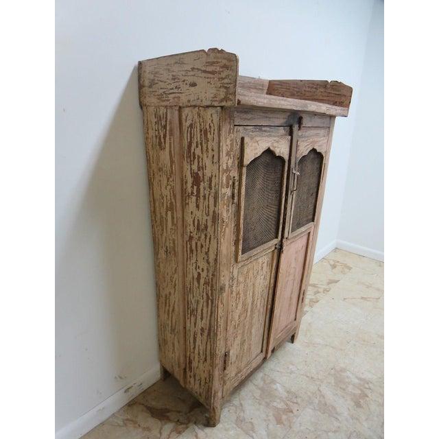 Primitive Antique Primitive China Cabinet Cupboard For Sale - Image 3 of 7
